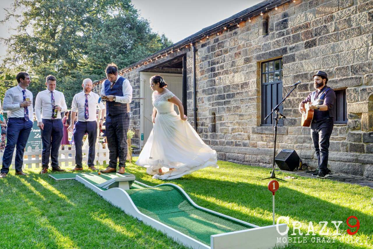 wedding mobile mini golf jump