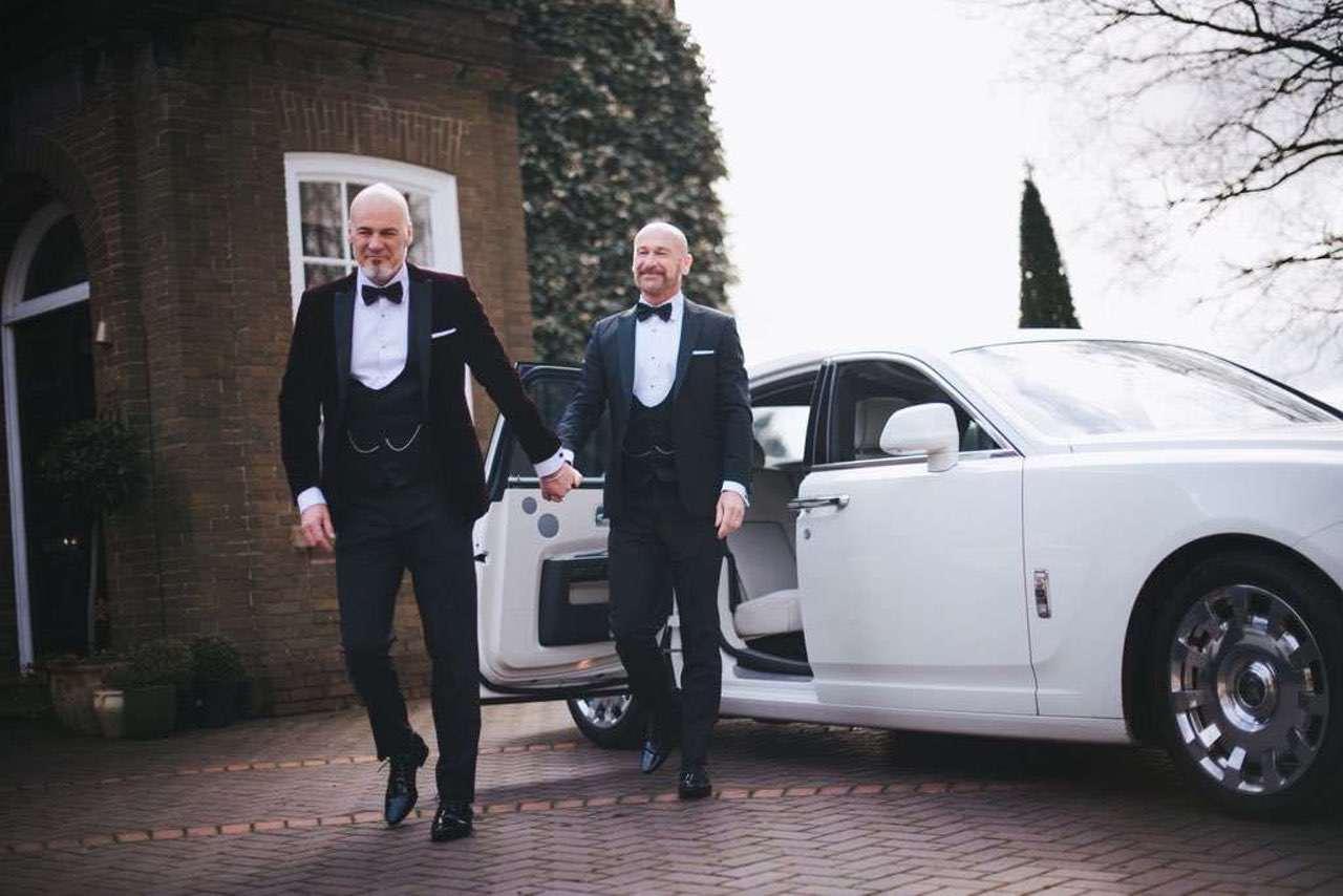 gay wedding ideas - wedding rolls royce hire cheshire red carpet cars uk