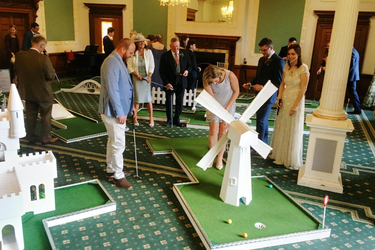 Wortley Hall Mobile Crazy Golf Wedding Entertainment
