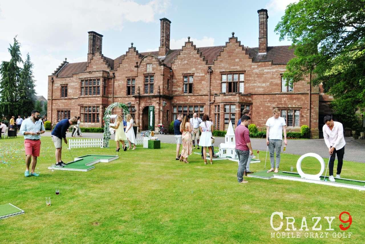 Wrenbury Hall Wedding Venue Cheshire Mobile Crazy Golf Entertainment